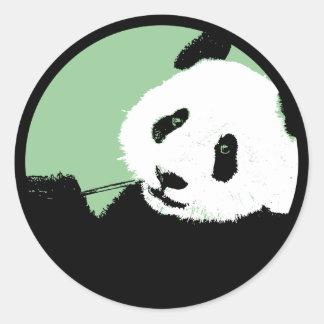 パンダ。 seagreen円 ラウンドシール