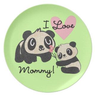 パンダI愛お母さん プレート
