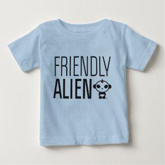 パンダJ9幼児Apprel/フレンドリーなエイリアン ベビーTシャツ