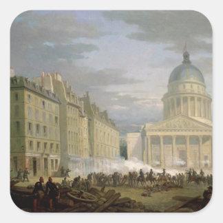 パンテオンの包囲、1848年6月24日 スクエアシール