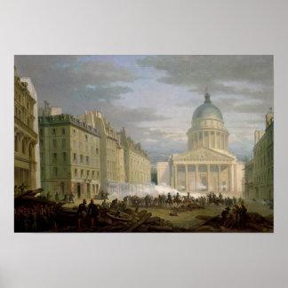 パンテオンの包囲、1848年6月24日 ポスター