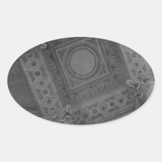 パンテオンの天井 楕円形シール