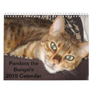 パンドラベンガル2015のカレンダー カレンダー