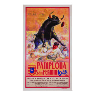 パンプロナ1948年 ポスター