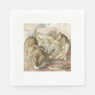 パン屋のクリスマスのウサギ スタンダードランチョンナプキン