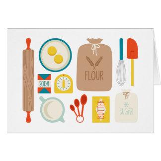 パン屋のテーブル グリーティングカード