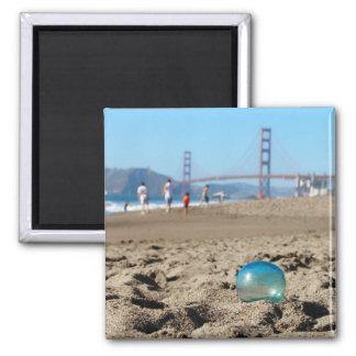 パン屋のビーチのガラス浮遊物 マグネット