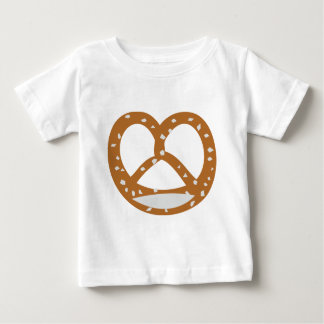 パン屋のプレッツェルのパン屋のロゴの記号 ベビーTシャツ