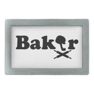 パン屋のロゴ 長方形ベルトバックル