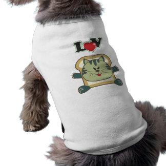 パン粉でまぶす猫ペットワイシャツ ペット服
