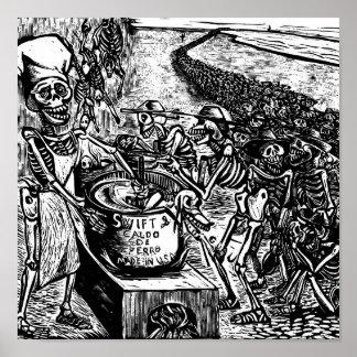 """""""パン、土地、またはお金なしで、労働者は逃げます ポスター"""