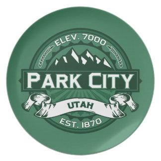 パークシティのロゴの森林 プレート