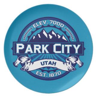 パークシティのロゴの氷 プレート