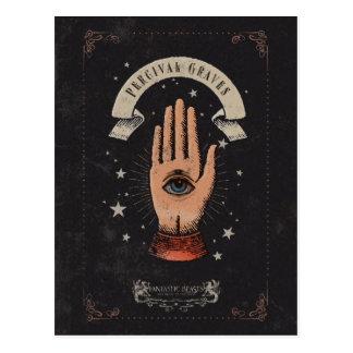 パーシバルの墓魔法手のグラフィック ポストカード