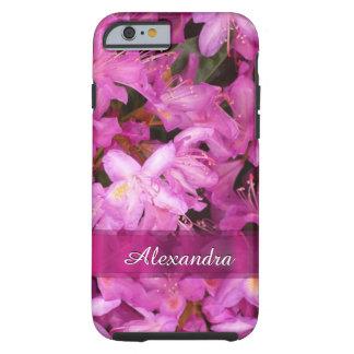 パーソナライズされたでかわいらしいピンクの花の写真 ケース