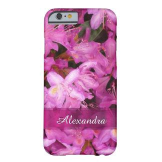 パーソナライズされたでかわいらしいピンクの花の写真 BARELY THERE iPhone 6 ケース