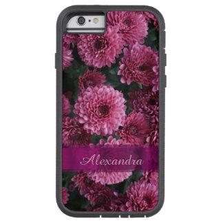 パーソナライズされたでかわいらしいピンクの菊の花 TOUGH XTREME iPhone 6 ケース