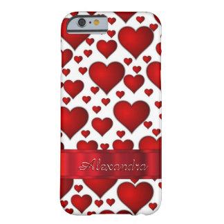 パーソナライズされたでロマンチックなハートパターン iPhone 6 ベアリーゼアケース