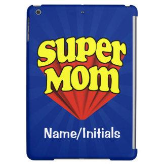 パーソナライズされたなすごいお母さんの赤くか黄色または青いスーパーヒーロー