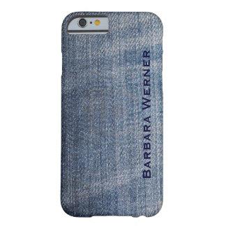 パーソナライズされたなブルー・ジーンズ BARELY THERE iPhone 6 ケース