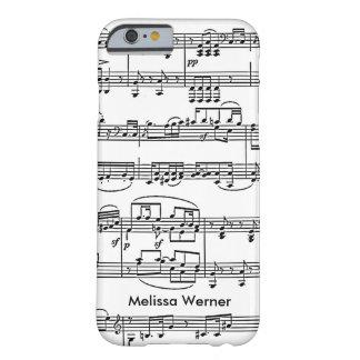 パーソナライズされたな楽譜 BARELY THERE iPhone 6 ケース