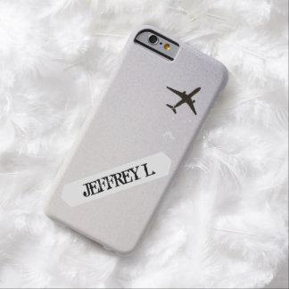 パーソナライズされたな飛んでいるで遠くにな|の高度の飛行機 BARELY THERE iPhone 6 ケース