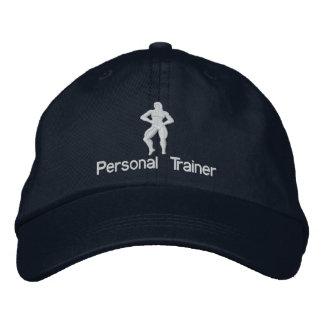パーソナルトレーナーによって刺繍される帽子 刺繍入りキャップ