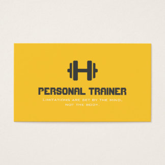 パーソナルトレーナーのエクササイズの体育館のフィットネスビジネス 名刺