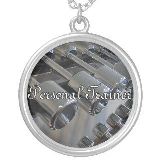 パーソナルトレーナーのネックレス シルバープレートネックレス