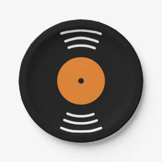 パーティのためのビニール音楽記録ノベルティの紙皿 ペーパープレート