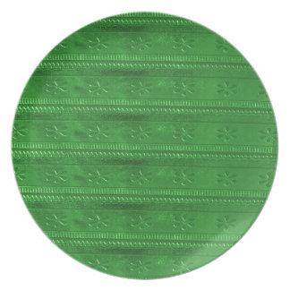 パーティのサービス品の緑のテンプレートDIYは文字のイメージを加えます プレート