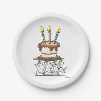 パーティのネズミ-誕生日おめでとう ペーパープレート