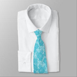 パーティのロイヤルブルーのTurqouseの白のレース オリジナルネクタイ
