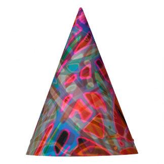 パーティの帽子のカラフルのステンドグラス パーティーハット