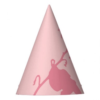 パーティの帽子のピンクのハチドリ パーティーハット