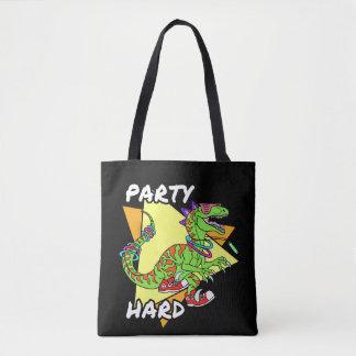 パーティの懸命の恐竜 トートバッグ