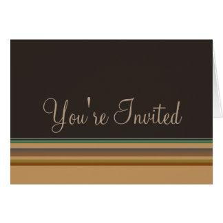 パーティの招待状は縞で飾ります カード