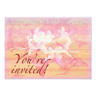 パーティの招待状-概要-野生のツツジの花 カード