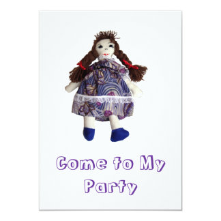 パーティの招待状-縫いぐるみ人形 カード