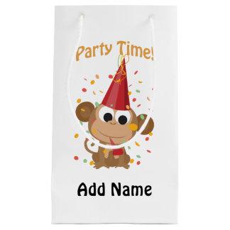 パーティの時間! 紙吹雪猿 スモールペーパーバッグ