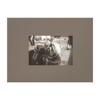 パーティの西部の子馬 キャンバスプリント