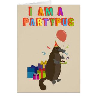 パーティを楽しむことを愛するplatypus カード