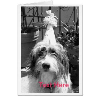 パーティを楽しむこと準備ができた犬 カード