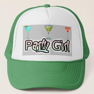パーティガールの帽子(白か緑) キャップ