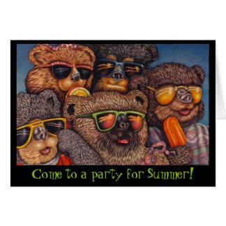 パーティーに来られるくま! カード