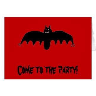パーティーに来られるこうもり! カード