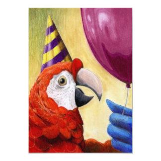 パーティーのオウムの招待状 カード