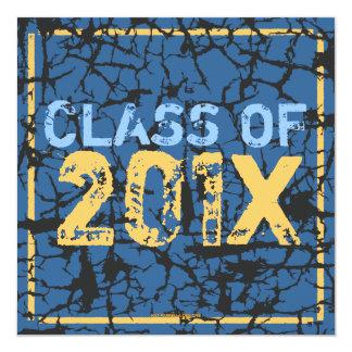 パーティーのグランジな卒業のパーティの招待状を持って下さい 13.3 スクエアインビテーションカード