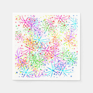パーティーのナプキンの虹の花火の灯台ルート スタンダードカクテルナプキン
