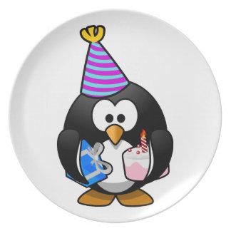 パーティーのペンギン プレート